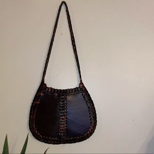 Vintage Boho Express Leather Purse!!